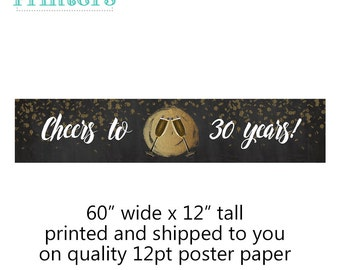 birthday banner, 30th birthday decorations, birthday party decorations, party supplies