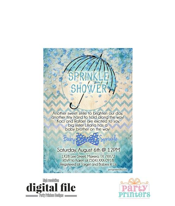 baby sprinkle invitation baby boy sprinkle invitation baby etsy