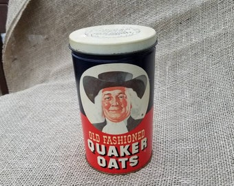 Quaker Oats Vintage Canister Tin 1982 Limited Edition