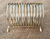 Retro Brass Tone Coiled Letter Holder Vintage Office  Father's Day Gift