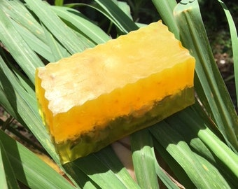 Handmade Lemon Zest Soap With Lemongrass Scent made with Organic Lemons