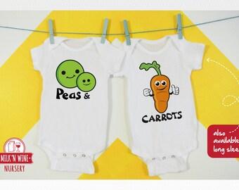 298da9fc5 Peas Carrots Twin Set, Onesie®, bodysuit, romper, under shirt