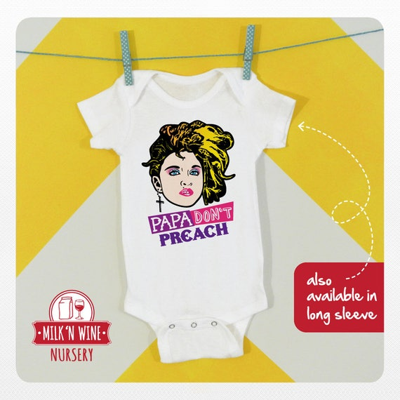 Papa Don't Preach Funny Baby Romper, Onesie, 0-24 months