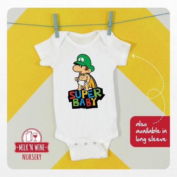 Baby Mario Luigi Onesy Cute Soft Super Mario Infant Newborn Pyjamas Nightwear