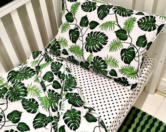 Cot Bed Bedding Set . Winter Trees