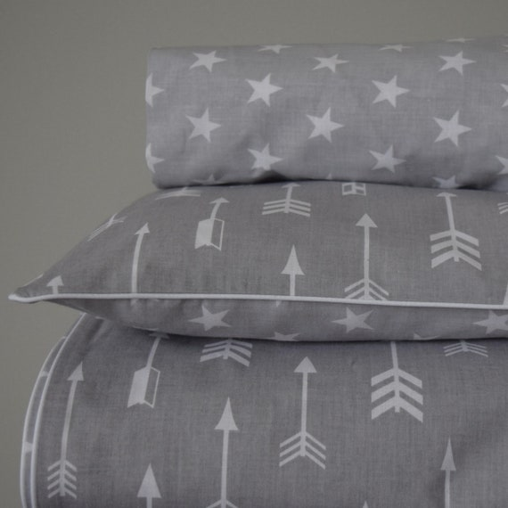 Vera Elephant 100/% Cotton Crib Fitted Sheet Blue Grey