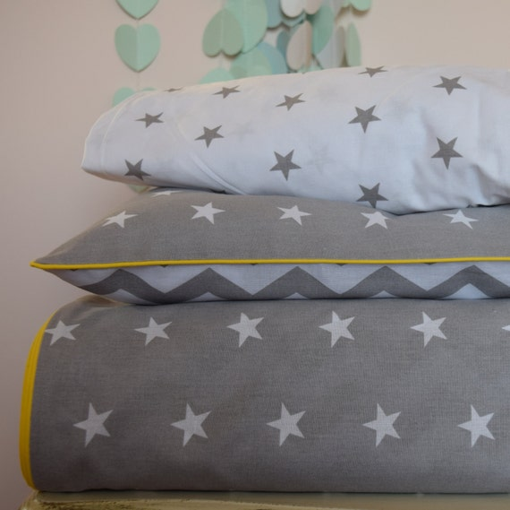 2 x COT BED FITTED SHEET COVER white navy stars 60x120 cm 70x140 cm PURE COTTON