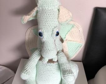 Large crochet dragon