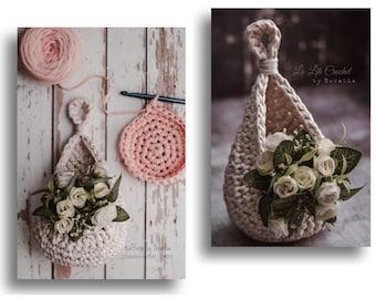 PATTERN Crochet Hanging Basket Air Plant Holder Succulent Holder Dormdecor Homedecor Home Decoration Storage Basket Flower Arrangement