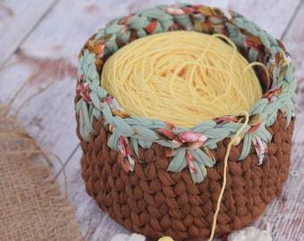 Crochet Basket Pattern and Tutorial DIY Hanging Basket Pattern/ Succulent Planter Pattern/ Crochet Basket Pattern/ Crochet Pod