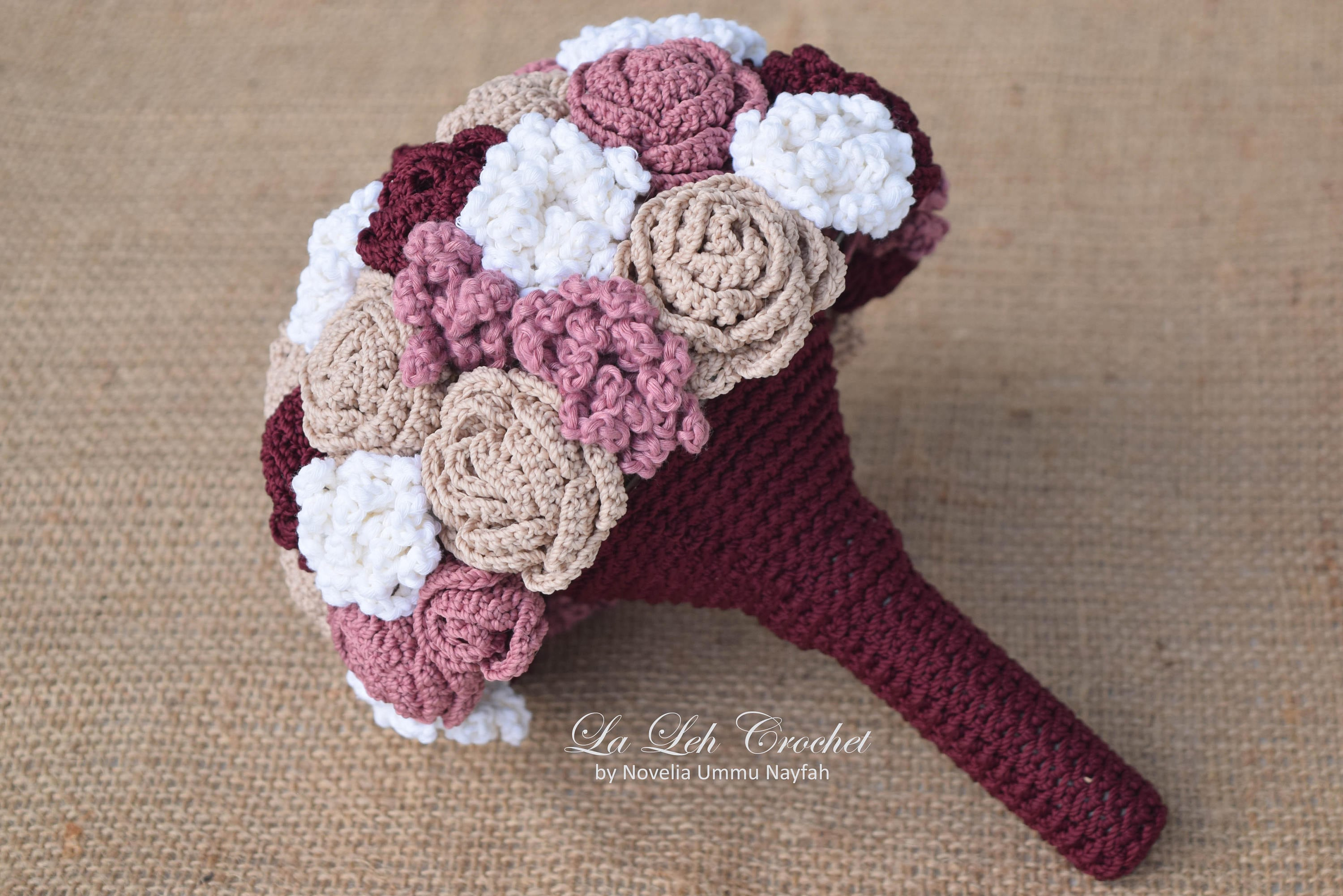 Crochet flower wedding bridal bouquet wedding keepsake zoom izmirmasajfo