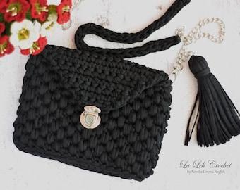 Printable Pattern: crochet clutch sling bag cross body bag women bag