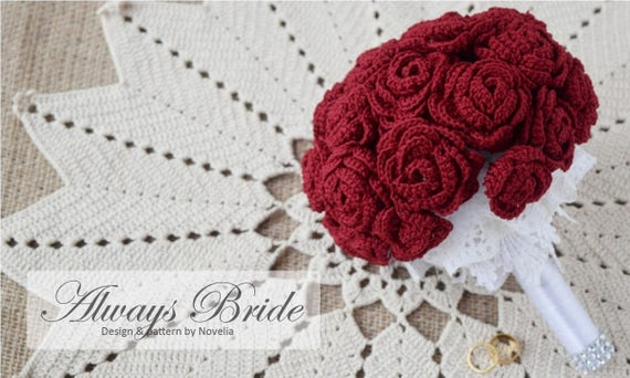 Pattern Crochet Wedding Flower Bouquet Pattern And Tutorial Etsy