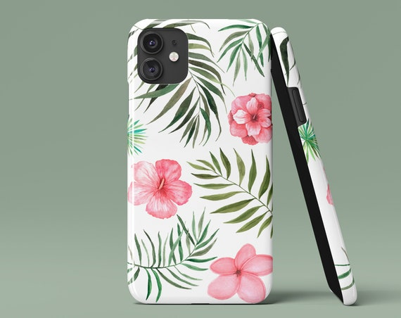 Samsung Galaxy Hawaiian Flowers Phone Case Huawei Phone Case Google Pixel iPhone X Case Vivid and Durable Aesthetic Phone Case