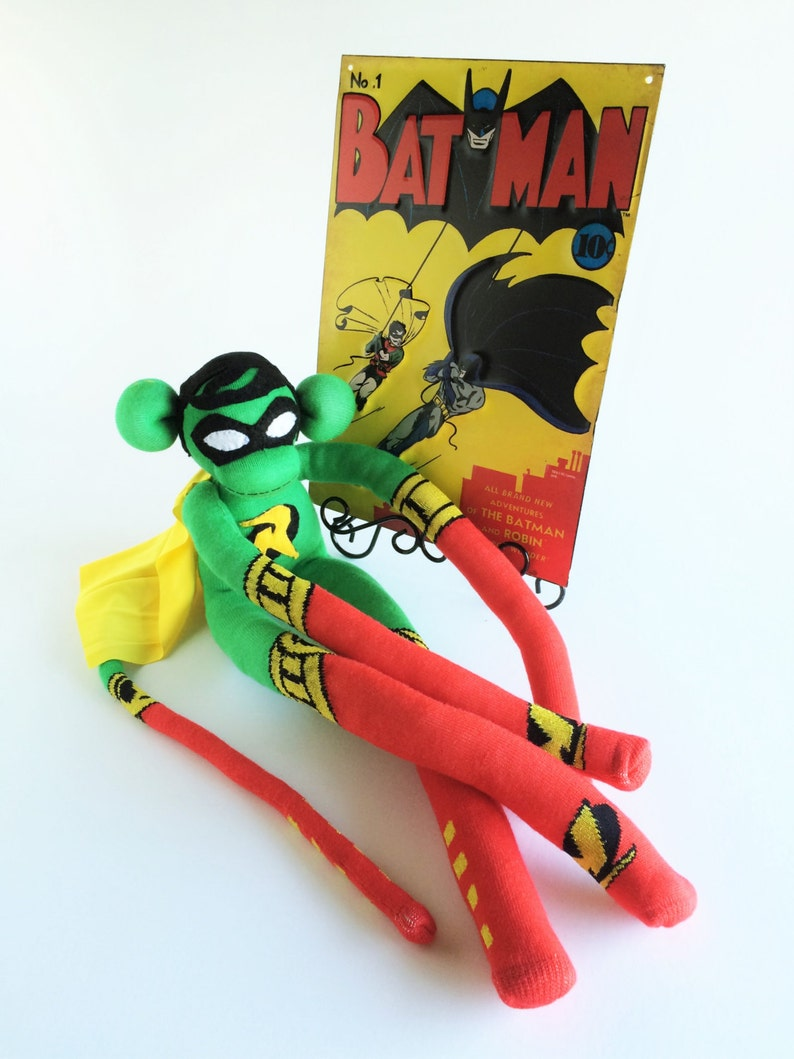 9f435380476 Robin Sock Monkey Sock Monkey Batman and Robin Superhero