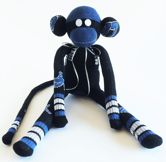 Detroit Lions Sock Monkey Nfl National Football Black Etsy