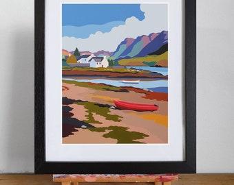 Plockton Scotland framed print