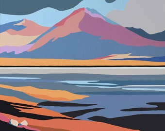 Breakish Isle of Skye signed print of acrylic painting