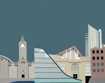 Manchester Skyline Print