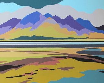 Loch Duich Scotland abstract landscape print