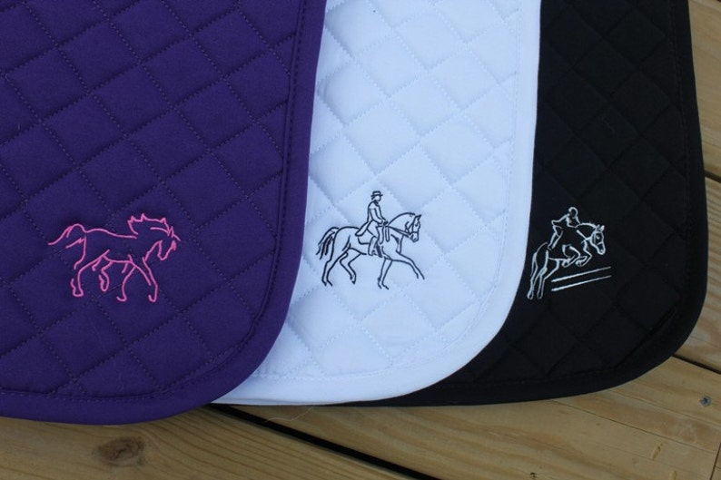 Embroidered Saddle Pad image 0
