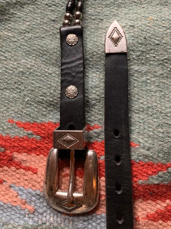 Vintage Leather Buffalo Nickel Concho Buffalo Bone