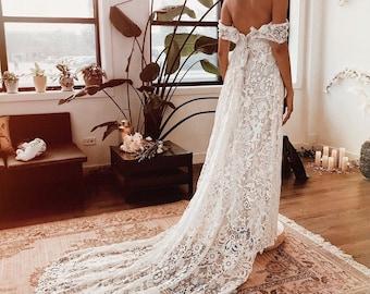 Flora Lane Bohemian Luxe Wedding Gowns By Floraandlane On Etsy,Wedding Dress Sparkle Top