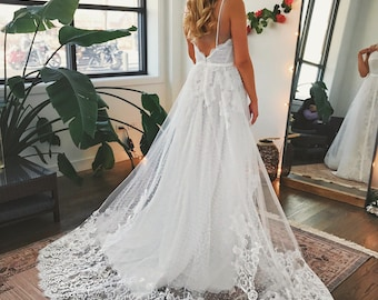 Country Lace Wedding Dress