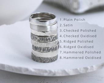 Hammered silver ring, Unisex ring sterling silver, custom made rings, rings for men, rings for women