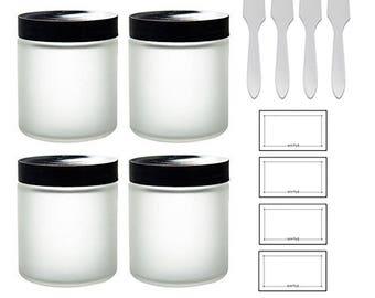 3efefb86252b Frosted glass jars | Etsy