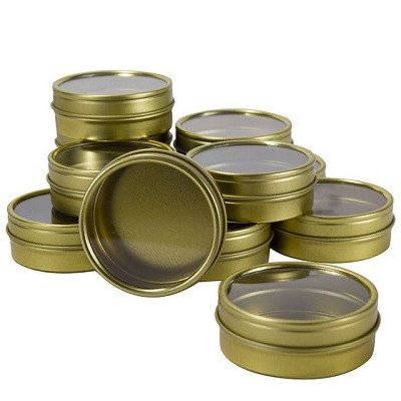 bab708f9921 Gold Metal Steel Tin Flat Containers with Tight Sealed Clear