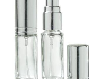 Clair en verre rechargeable voyage parfum vaporisateur - 0,15 oz (2 pack) *** livraison gratuit ***