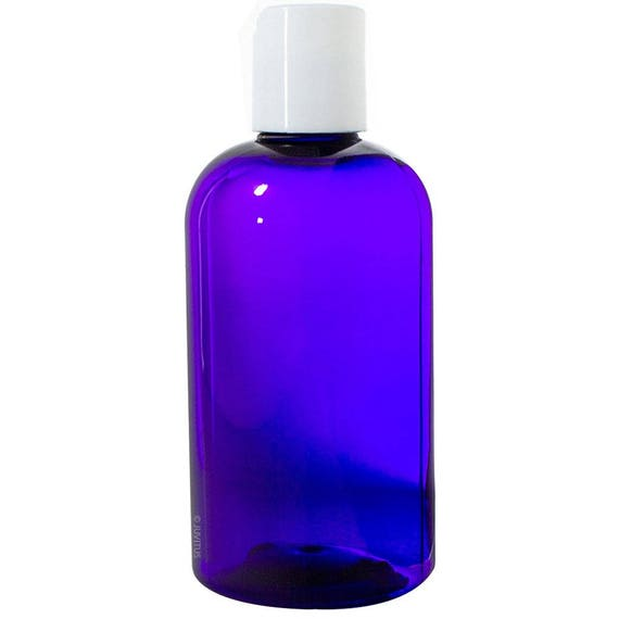8 oz PURPLE Bullet Bottle PET w//caps 10 sets