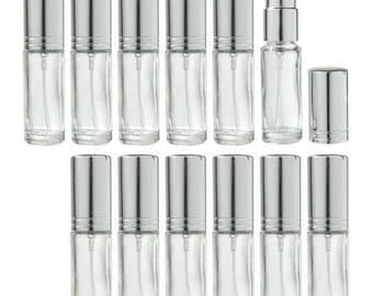 Clair en verre rechargeable voyage parfum vaporisateur - 0,15 oz (pack de 12) *** livraison gratuit ***