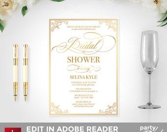Gold bridal shower | Etsy