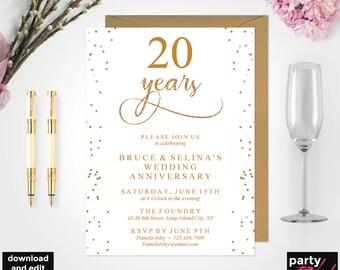 50th Anniversary Invitation Template Etsy