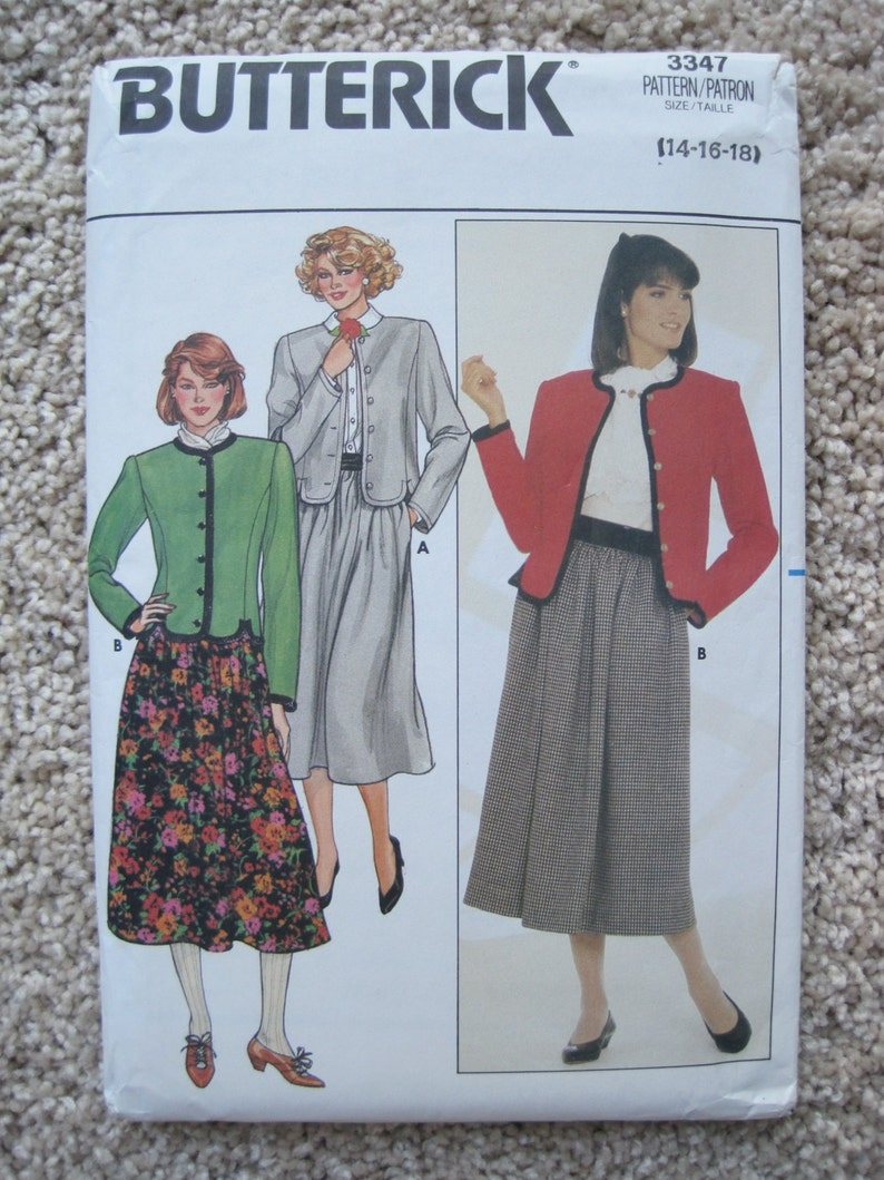 d686f65754b UNCUT Misses Jacket and Skirt Butterick Sewing Pattern 3347