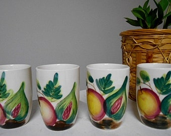 Vintage Ceramic Beakers / Cups - Set of Four