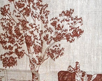 Vintage Tea Towel ~ Taroom Home of the Leichhardt Tree ~ Queensland Australia