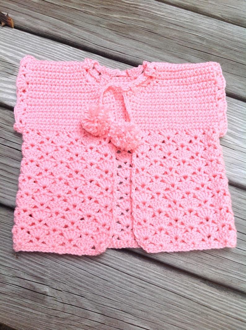 Gilet Sans De Shower Crochet BébéEn Dentelle FilleVeste MancheCadeau Au Bébé tshdCQr