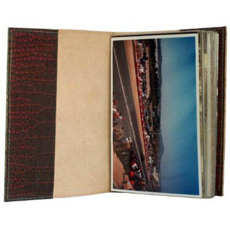 NORWAY Free Shipping Handmade Leather Travel Photo Album Natural