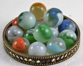 Vitro Agate Marbles - 16 Conquerors - Patch Marbles -Colorful Game Marbles - Collectors - Crafts - Jewelry Making