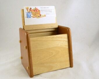 Large Recipe Box Etsy