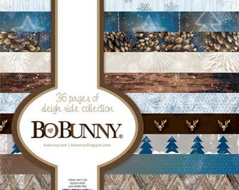 Bo Bunny 6x6 paper pad - Sleigh Ride