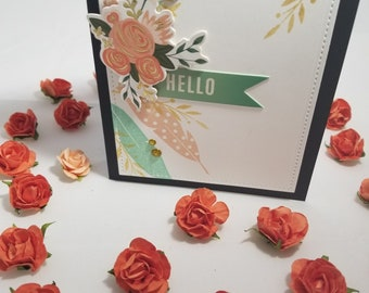 "Pastel ""Hello"" & ""Thinking of You"" card set"