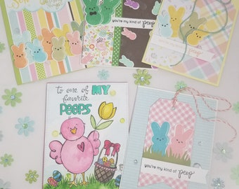 "Set of 5 ""Easter"" cards"