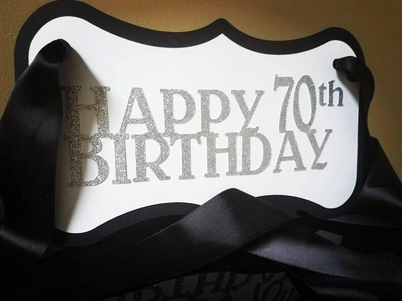Happy Birthday Chair Sign