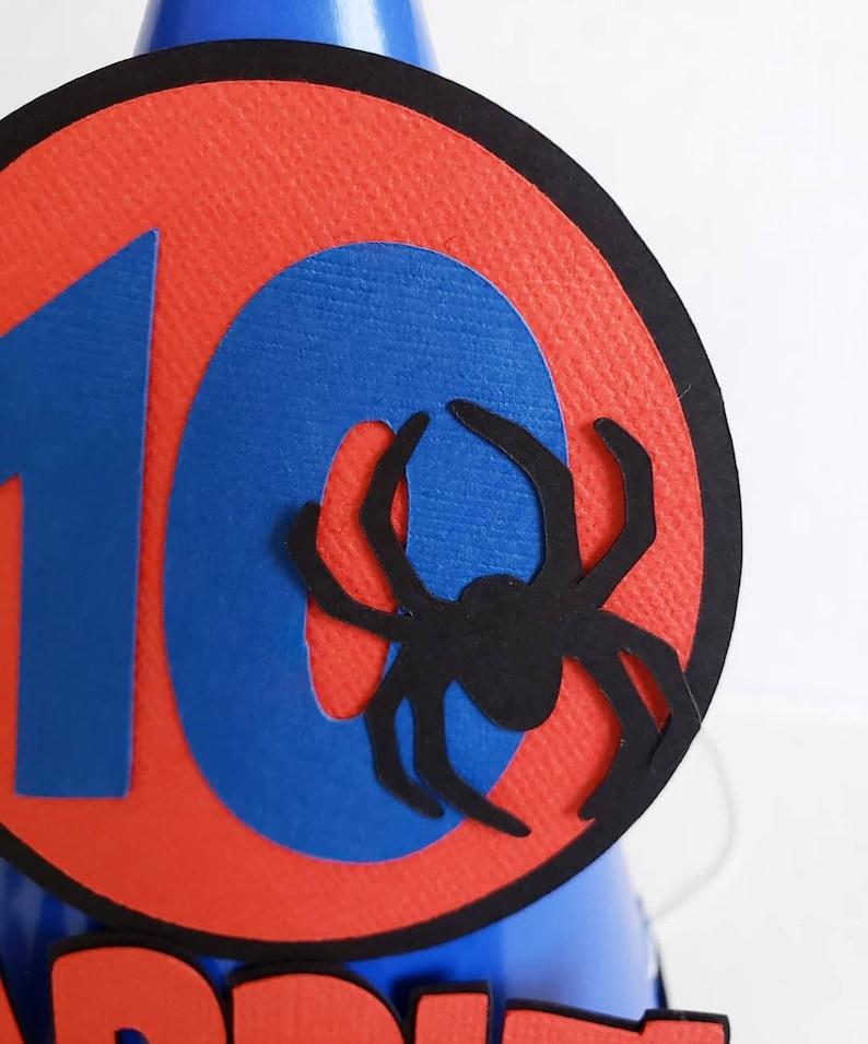 Spider-man Superhero Birthday Spider-Man Party Hat Marvel Party Hat Marvel Birthday Spider-Man Birthday Hat