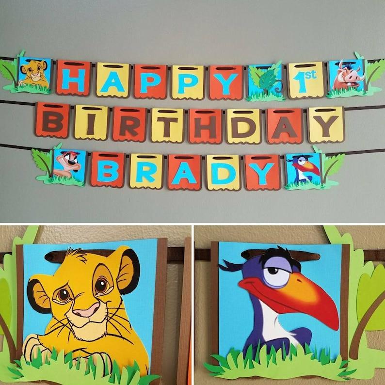 Lion Guard Birthday Banner Kion Lion King Birthday Banner Lion Guard Banner Lion Guard Party Lion King Party Lion King Banner Simba
