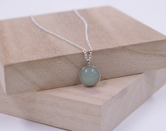 Bohemian Necklace // Aventurine Cabochon Necklace // Boho Necklace // Womens Necklace // Green Stone Necklace // Green Bead Necklace